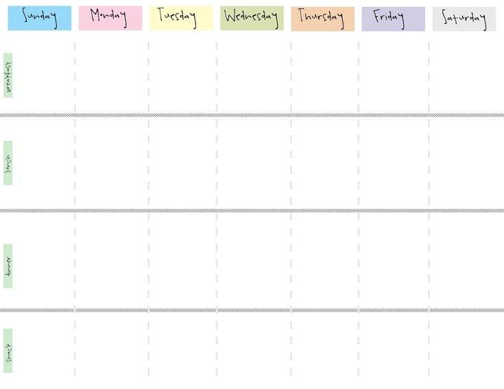 8 Best Images Of Cute Printable Weekly Calendar Printable Weekly Cute Printable Blank Cale