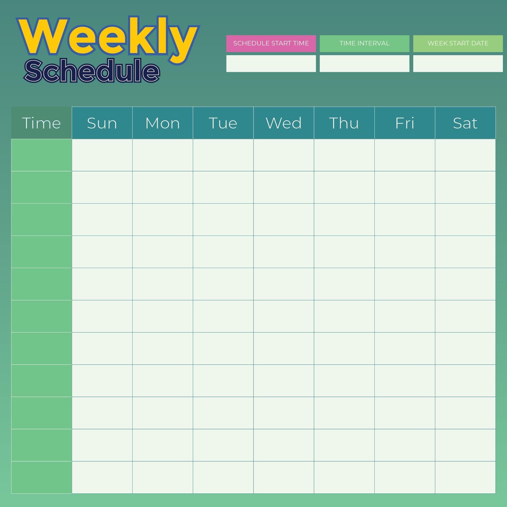 9 Best Weekly Planner Printable - Printablee