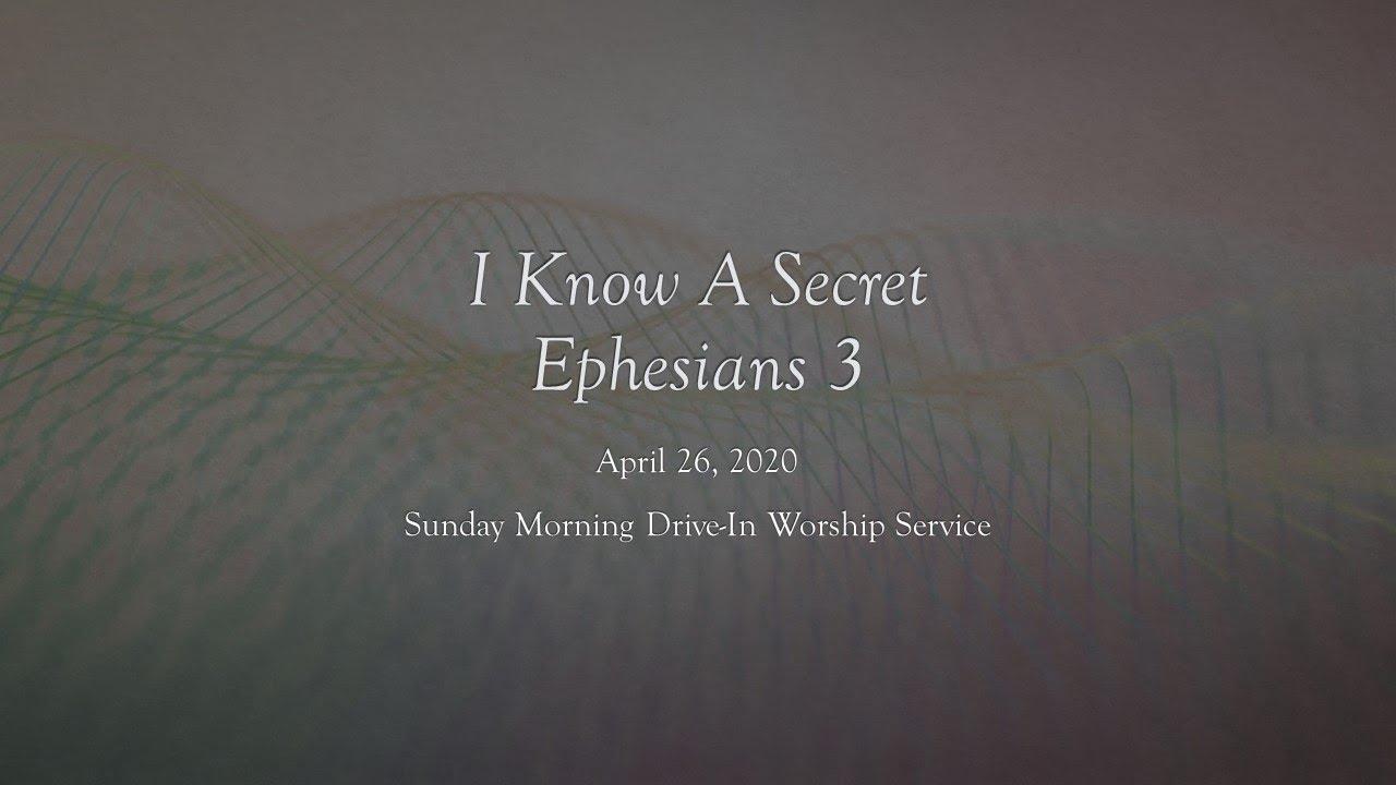 April 26, 2020 - Sunday Morning Worship - Youtube