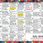Retirement Party Calendar 2021