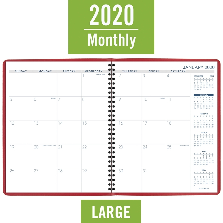 At-A-Glance Fashion Color Monthly Planner - Julian Dates - Monthly - 1.3 Year - January 2021