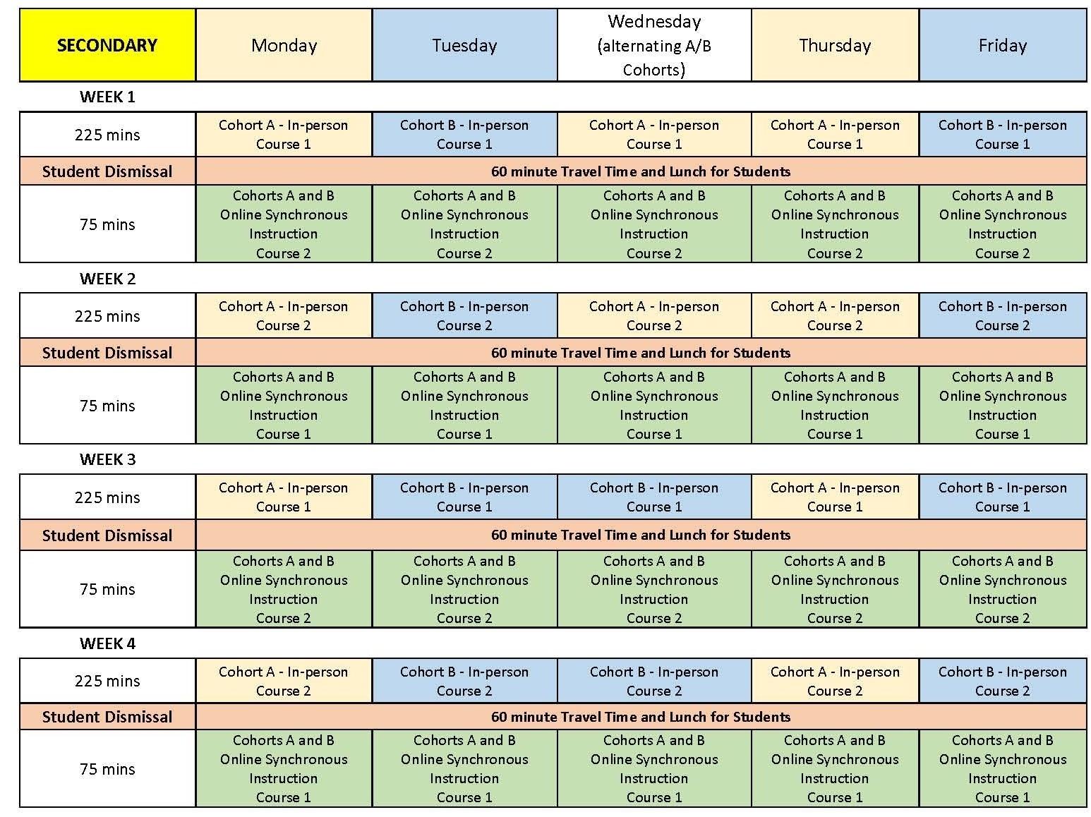 Aug.27 - Updated Secondary School Schedule - Greater Essex County District School Board