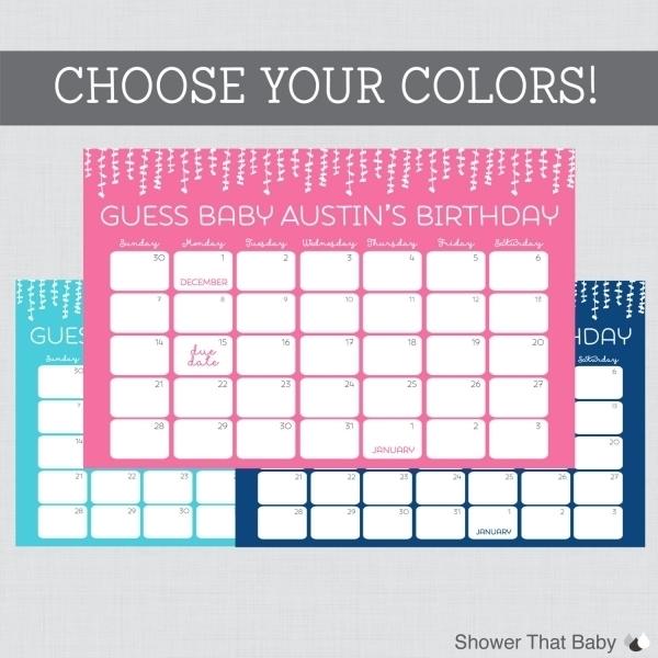 Baby Due Date Calendar Printable | Printable Calendar Template 2021