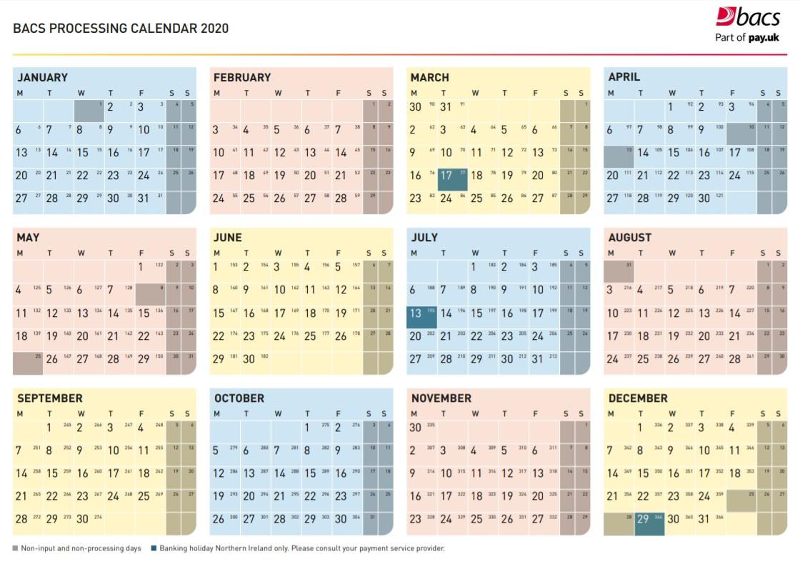 Bacs Julian Calendar 2021 | Free Printable Calendar