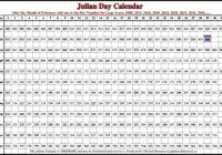 Best Of 2019 Julian Date Calendar Printable Free - Calendar Template 2021