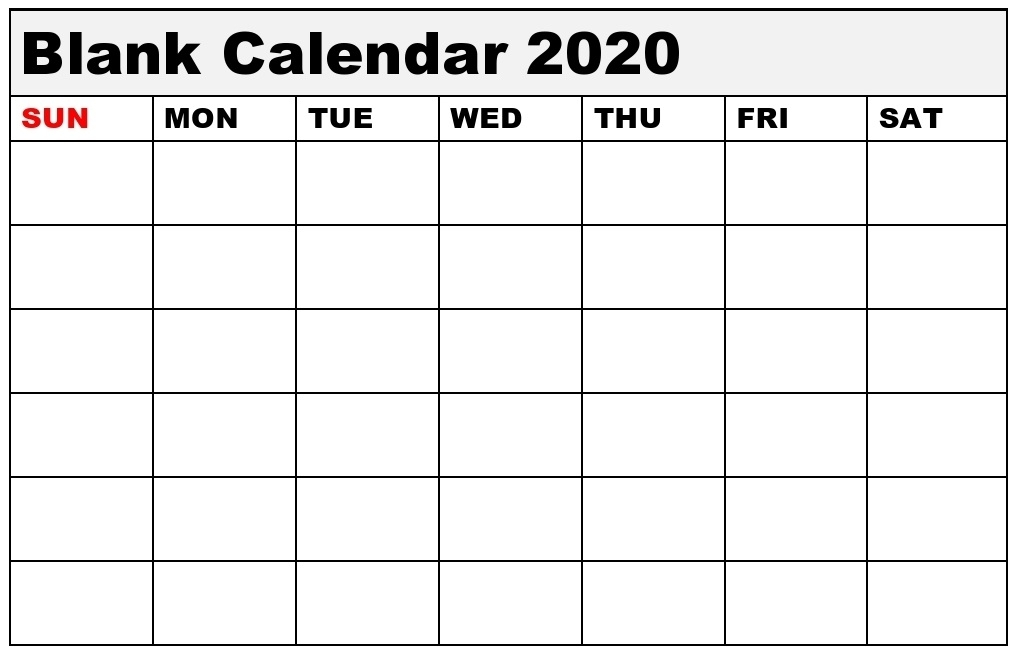 Blank Calendar Template And Editable Template Download