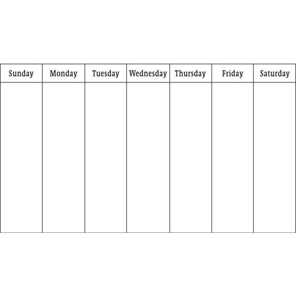 Blank Weekly Calendar Liked On Polyvore Featuring Tip Outlines, Outlines, Templates, Backgrounds