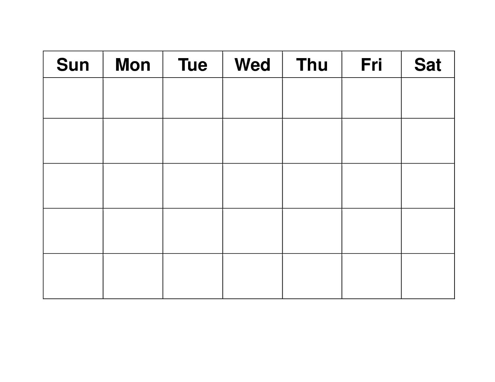 Blank Weekly Calendars Printable | Blank Calendar Template, Free Printable Calendar Templates