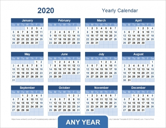 Calendar By Numbering The Days | Printable Calendar Template 2020