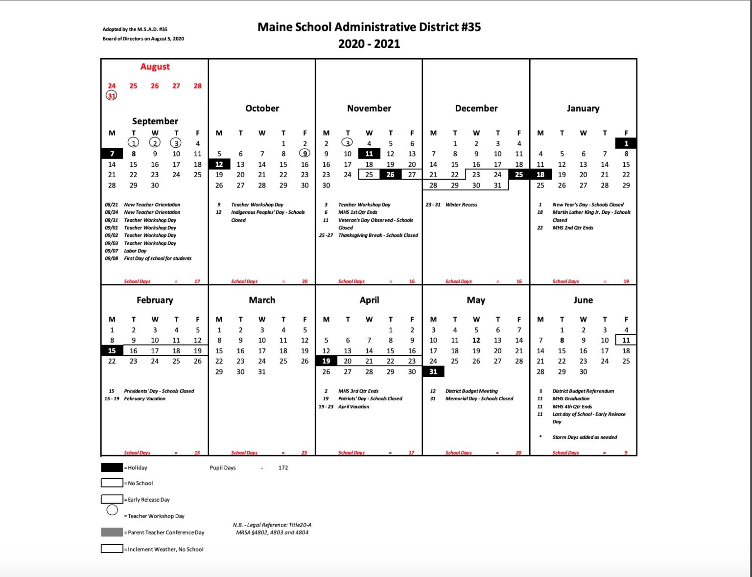 Calendar For 2020-2021 (Aug 5) - Rsu #35 Within Depo Provera Schedule 2021 | Calendar Template