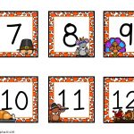 Free Numbers For Calander For Preschoolers