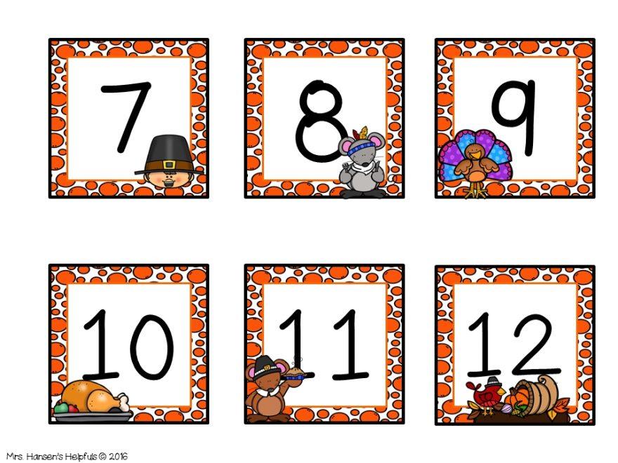 Calendar Thanksgiving Theme Freebie For Followers! Thanks! Hansenshelpers.blogspot