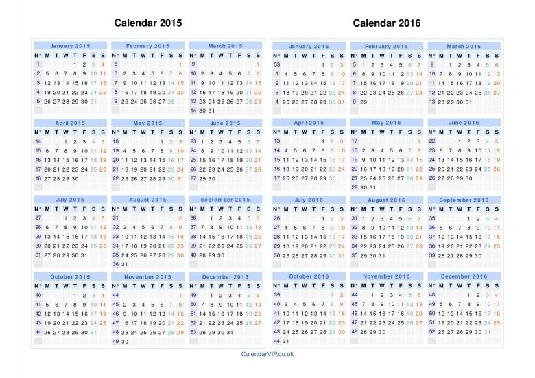 Calendar With Numbered Days 365 :-Free Calendar Template