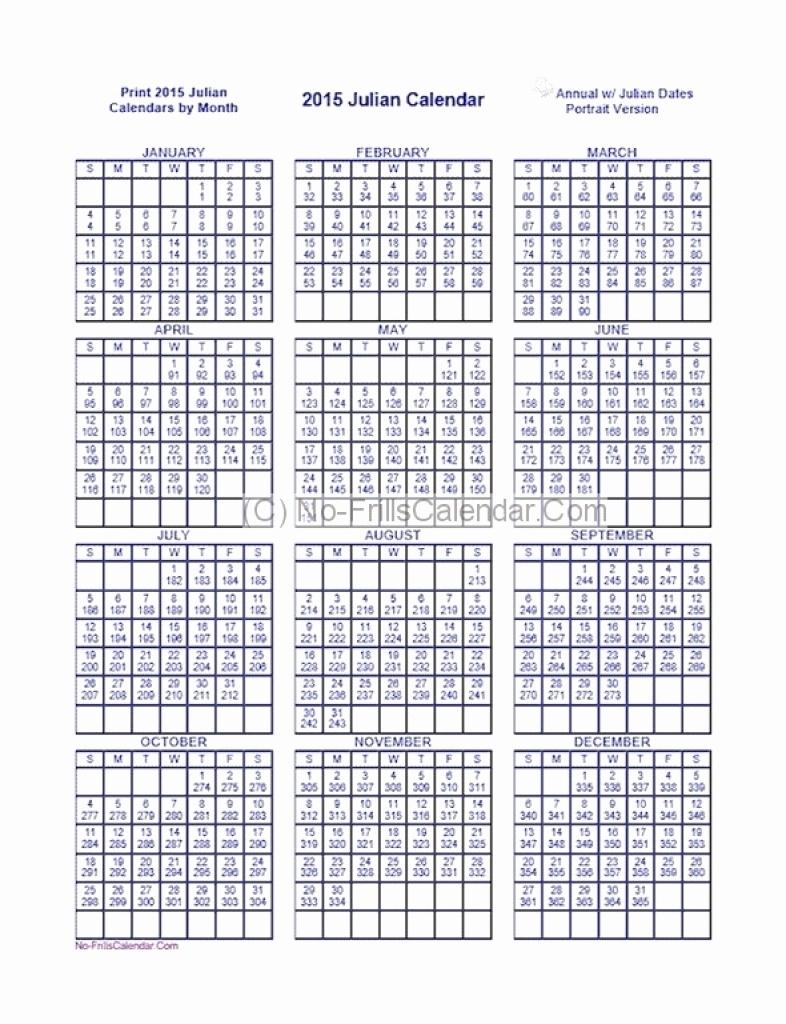 Catch Julian Date Calendar   Calendar Printables Free Blank