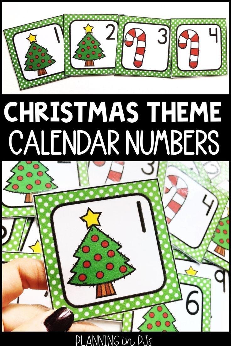Christmas Calendar Numbers For December   Calendar Numbers, Christmas Calendar, Classroom Calendar