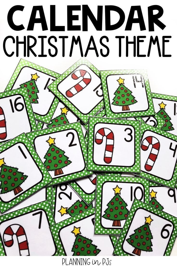 Christmas Calendar Numbers For December (With Images)   Christmas Calendar, Classroom Calendar