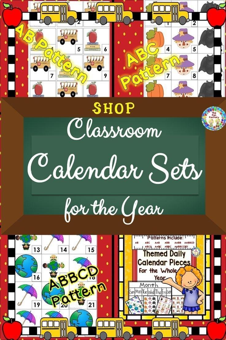 Classroom Calendar   Calendar Printables Include Numbers Patterns Themes   Classroom Calendar