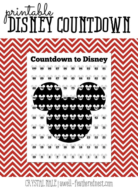 Counting Down The Days | Disney Countdown, Disney World Countdown, Surprise Disney Trip Reveal