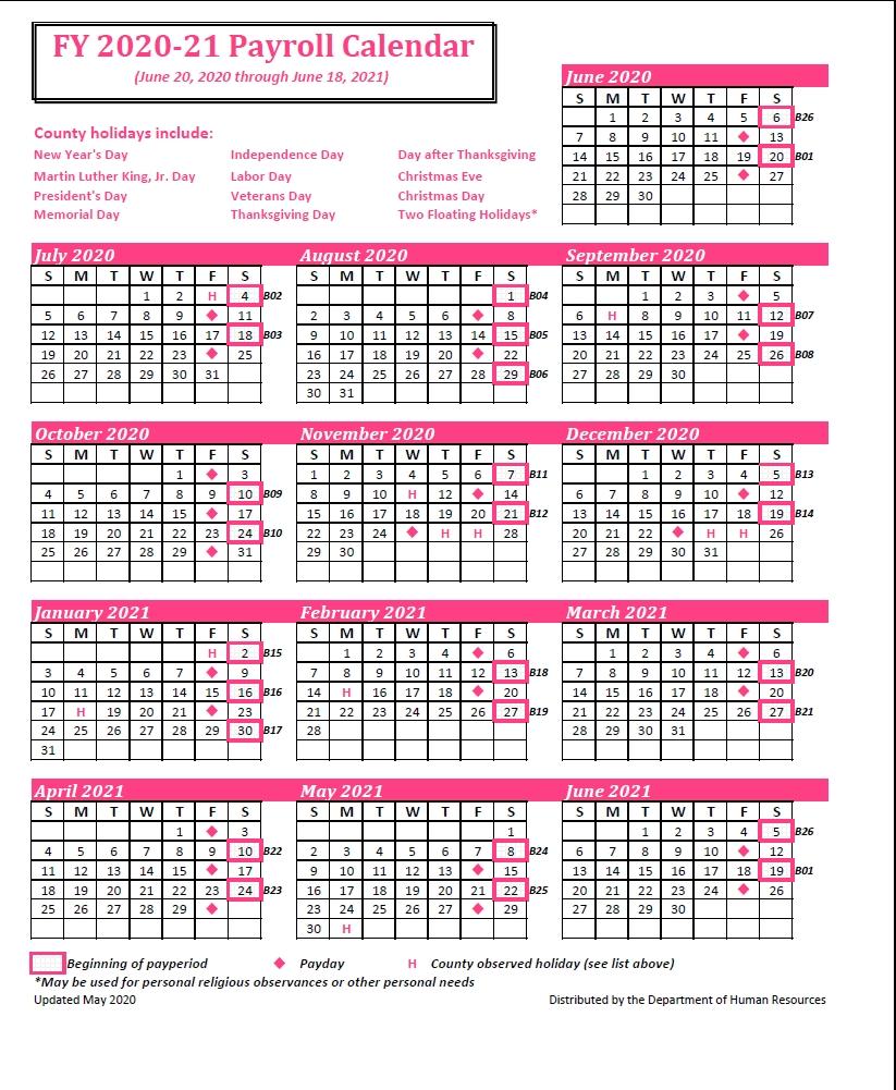 County Of Henrico Payroll Calendar 2021Of Henrico Payroll Calendar 2021   Payroll Calendar