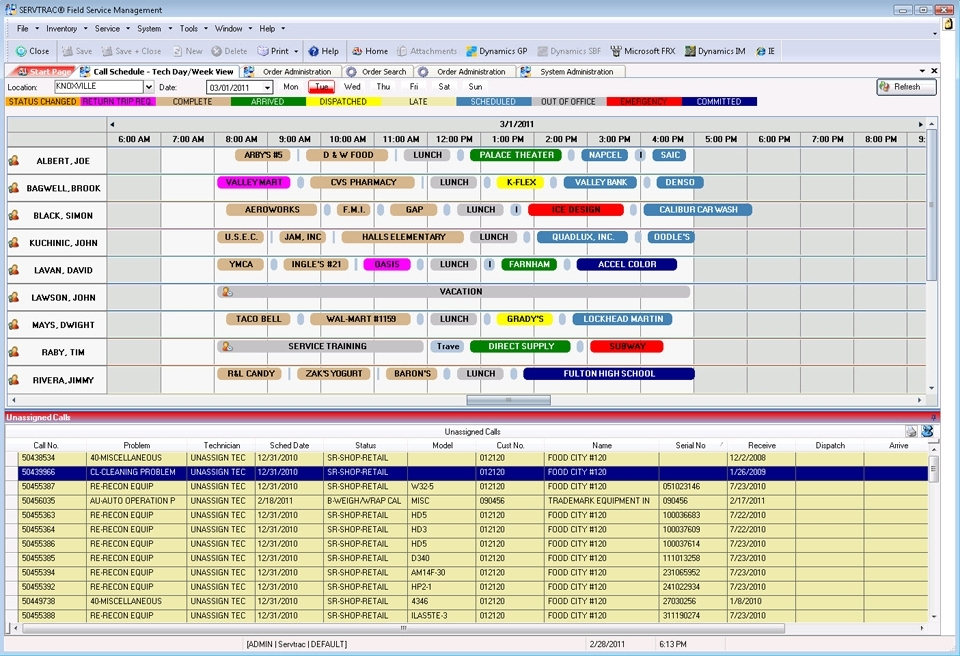Dispatch & Scheduling - Servtrac® For The Service Industry - Amtech
