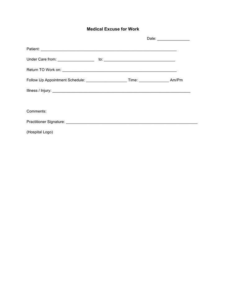 Doctor Excuse Template | Download Free & Premium Templates, Forms & Samples For Jpeg, Png, Pdf