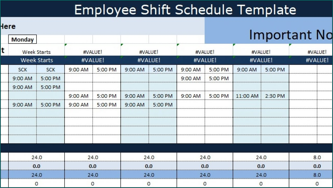》Free Printable Employee Shift Schedule Template | Bogiolo