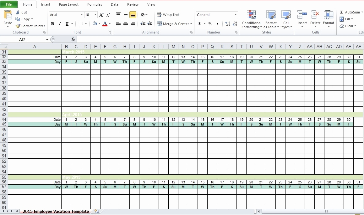 Employee Vacation Calendar Free Excel Spreadsheets Html Autos Post To Tracking Employee Time Off