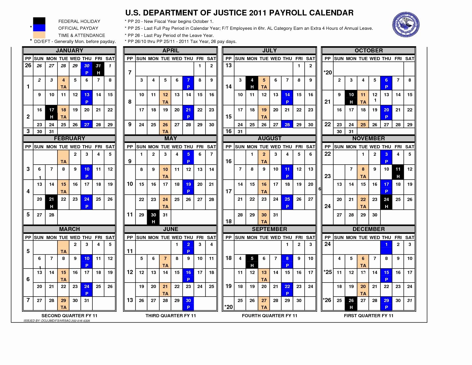Federal Employee Pay Period Calendar 2020   Free Printable Calendar