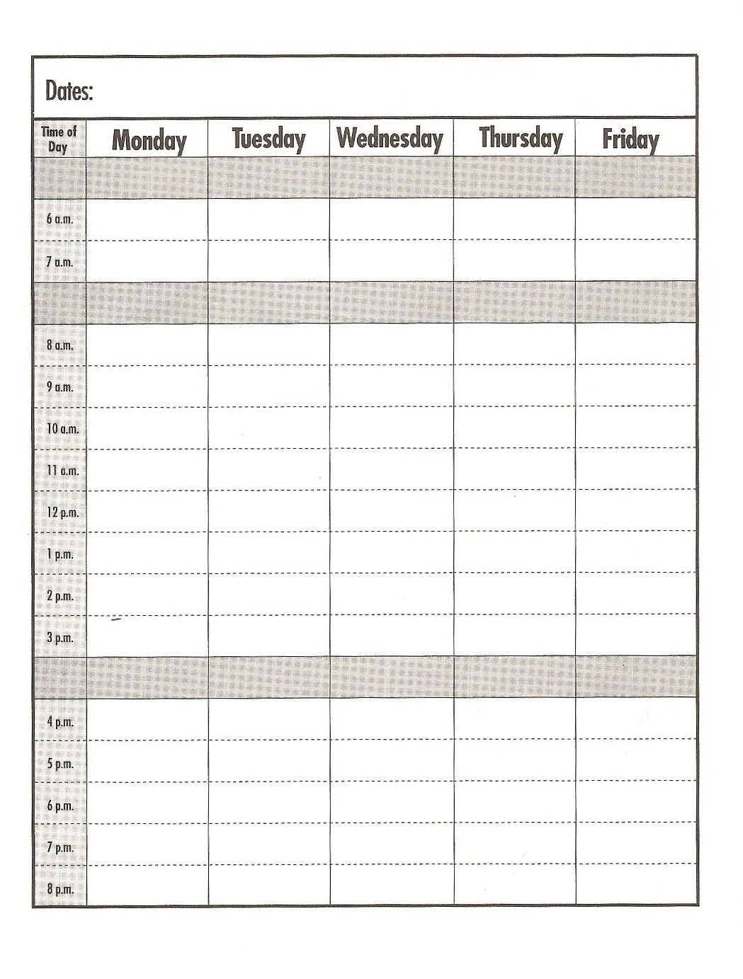 Free Calendar Print Out Pages Daily With Time Slots On   Ten Free Printable Calendar 2020-2021