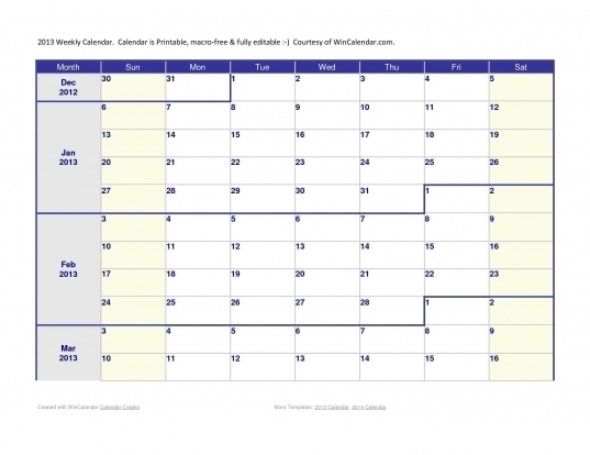 Free Monthly Calendar To Edit   Printable Calendar Template 2021