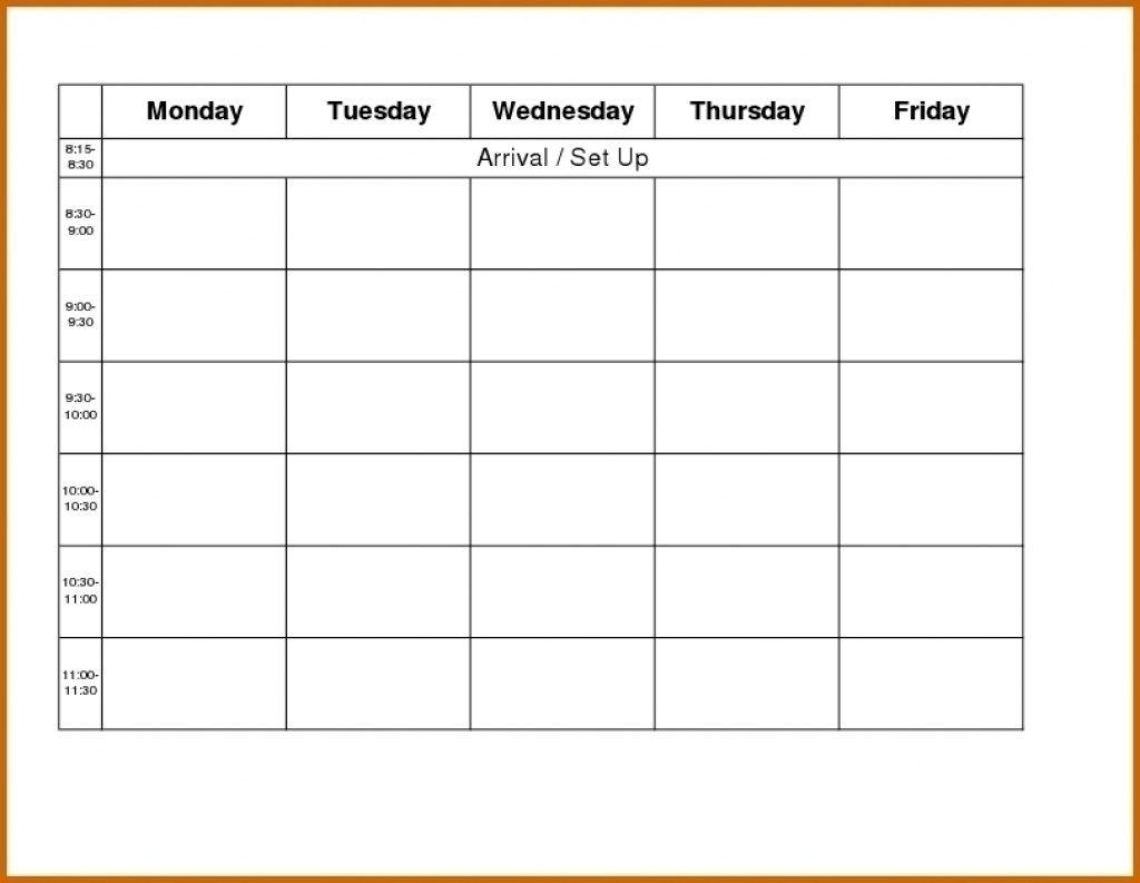 Free Printable Calendar Monday Through Friday | Month Calendar Printable