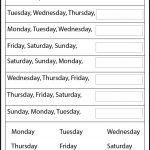 Blank Calendar Days Of Week