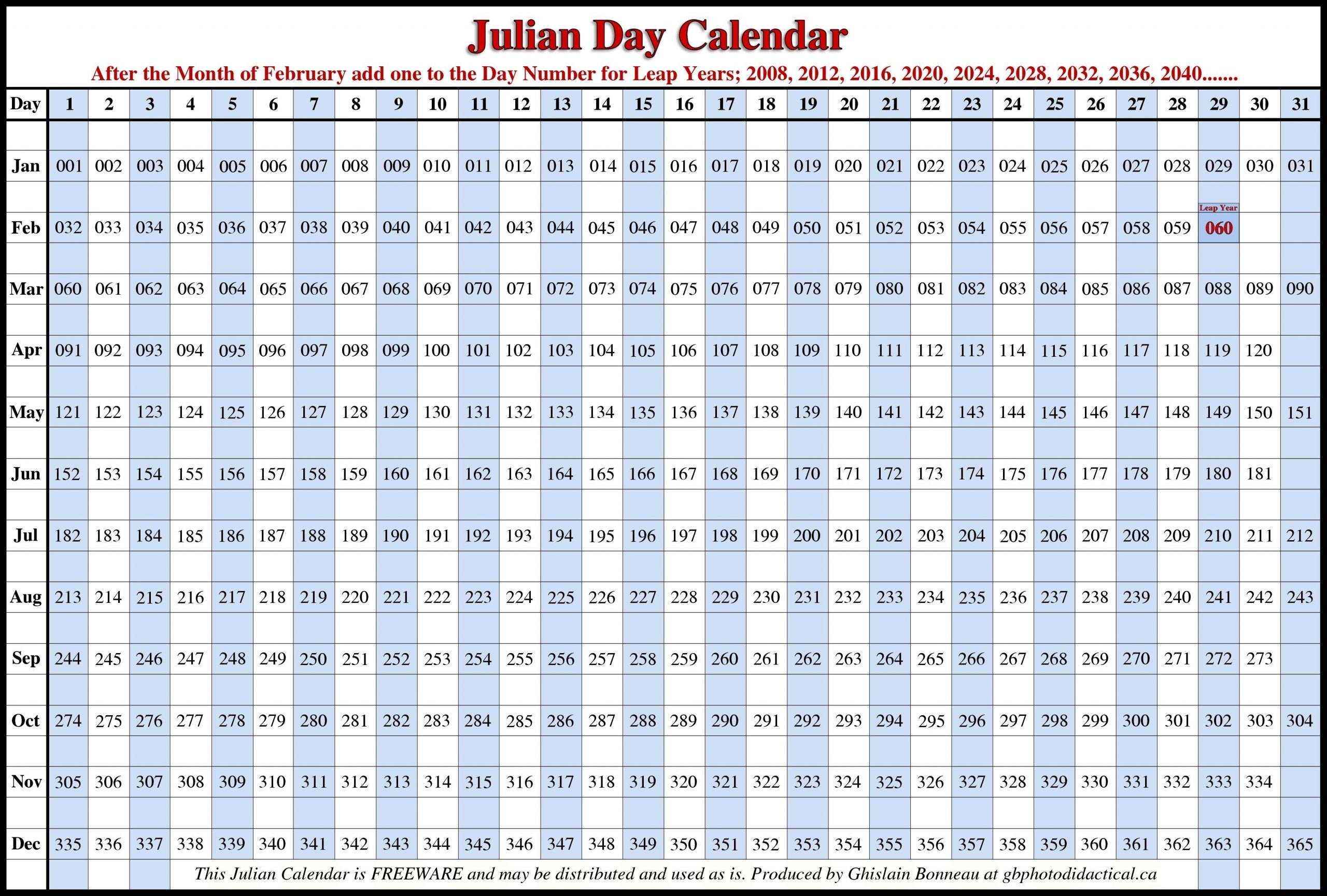 Get 2020 Julian Calendar   Calendar Printables Free Blank