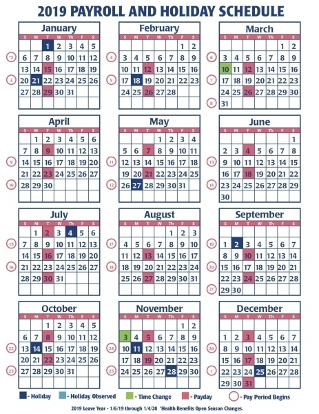 Gs 2020 Pay Period Calendar | Printable Calendar Template 2020