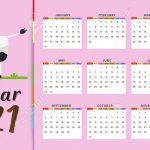 Hello Kitty Calendar 2021 Printable