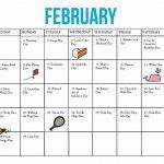 Multi Dose 28 Day Calendar Printable