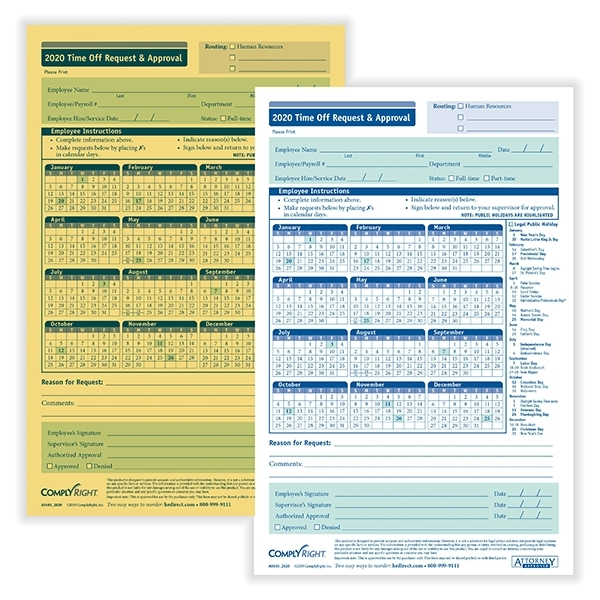 Hrdirect | Time Off Request Form | Approval For Time Off