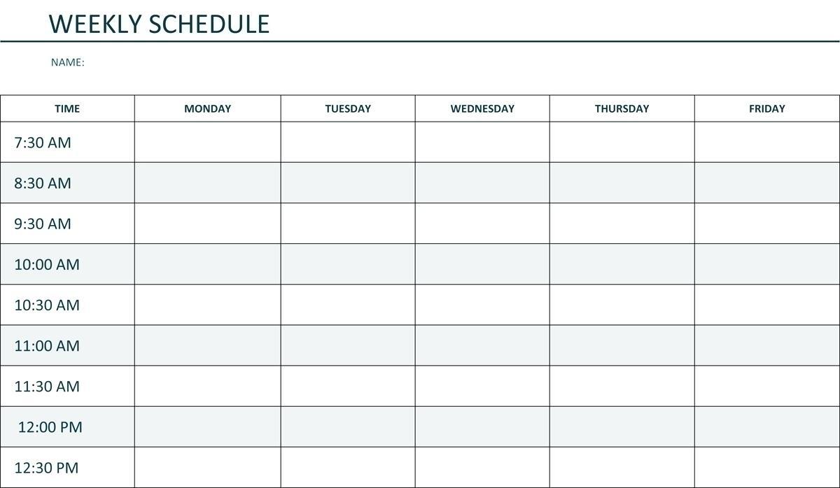 Image Of Weekly Calendar Monday Through Sunday | Calendar Template 2021