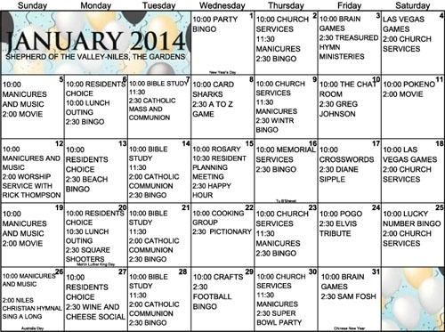 Individual Activity Calendars For Senior Citizens | Printable Calendar 2020-2021