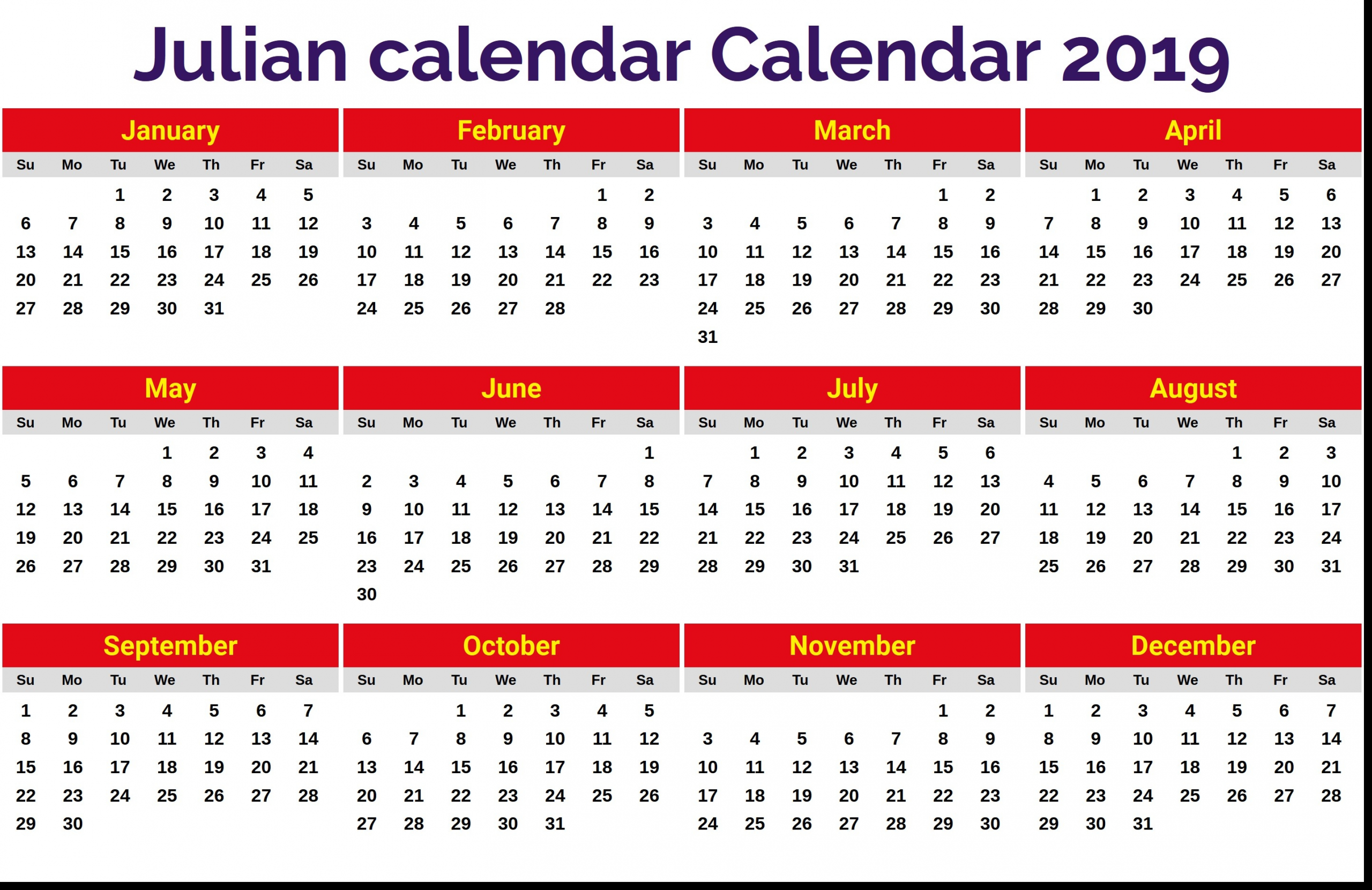 Julian Date 2020 | Calendar Template Printable Monthly Yearly