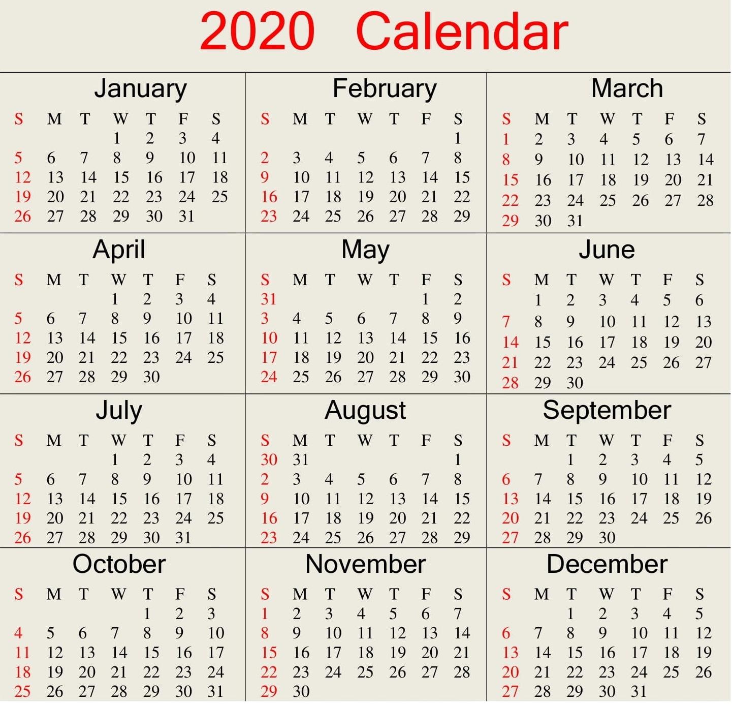 Julian Date Calendar 2020 In Excel   Free Printable Calendar