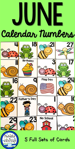 June Calendar Numbers   Calendar Numbers, Preschool Calendar, Calendar