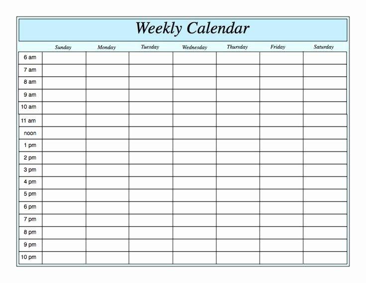 Lovely Blank Weekly Schedule Template In 2020 | Weekly Planner Template, Printable Calendar
