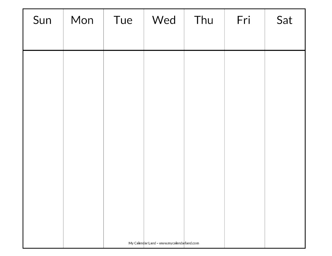 Lovely Days Of The Week Calendar Printables | Free Printable Calendar Monthly