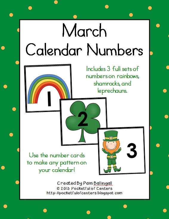 March Calendar Numbers   Calendar Numbers, Calendar, Morning Meeting Kindergarten