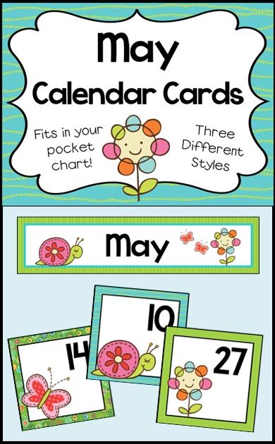 May Calendar Numbers - Monthly Calendar Cards Set   Teaching Calendar, Preschool First Day