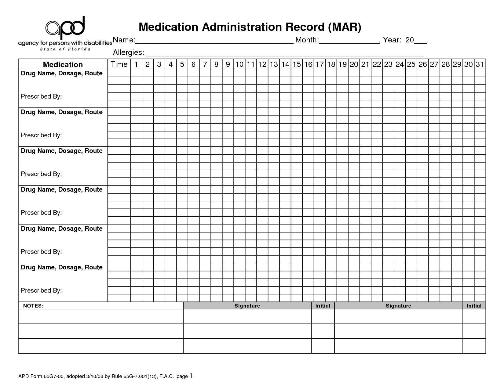 Medication 28 Day Calendar Printable   Calendar Template 2021