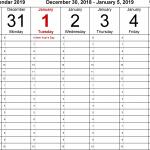 Printable Day Calendar With Times