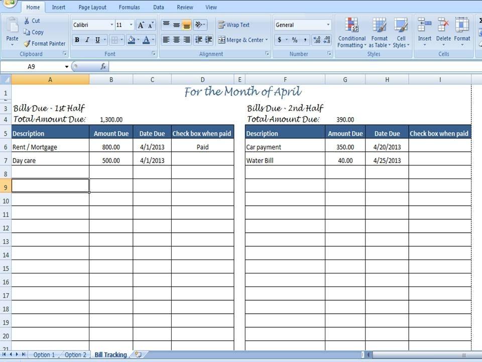 Monthly Bill Organizer Bill Tracker By Timesavingtemplates