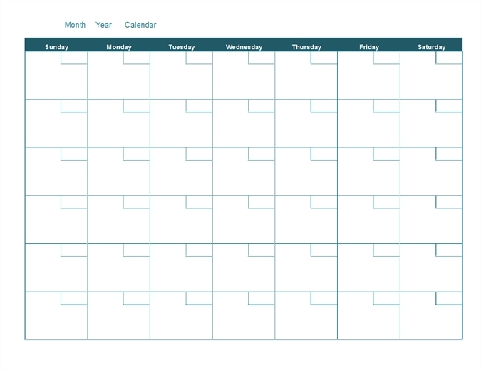 Monthly Calendars To Print And Fill Out Graphics | Calendar Template 2020